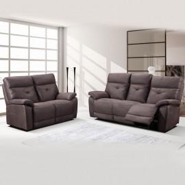 Salon Daxar en tissu avec relax électriques