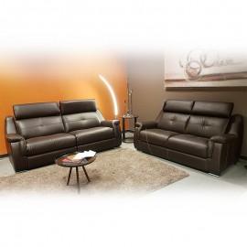 Salon Tigra en cuir - avec relax électriques