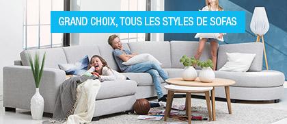 sofa confort en tissu