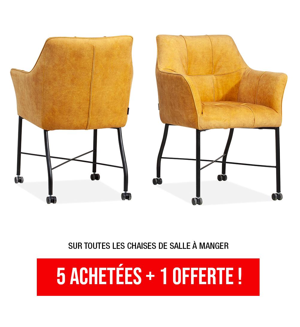5 chaises achetée e+ 1 offerte